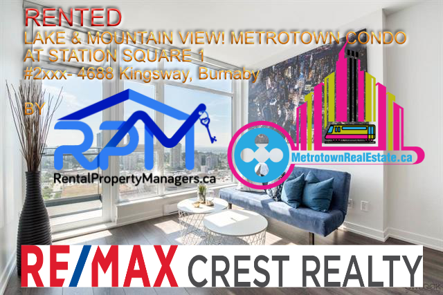 [RENTED] Metrotown Condo at Station Square 1 for Rent