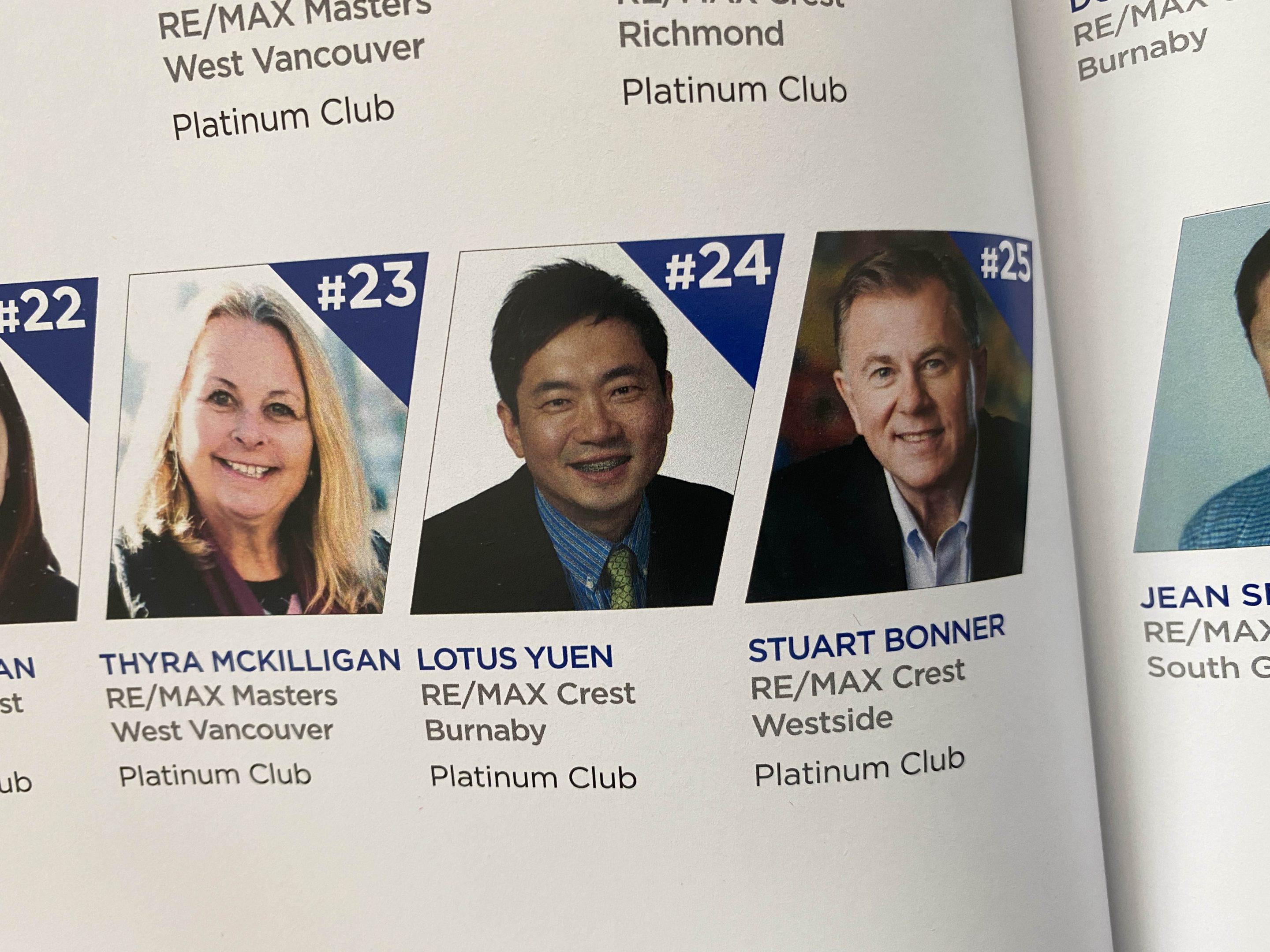 REMAX Year book 2020 - Lotus Yuen Ranked 24 in Remax Crest and Remax Master